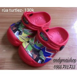 dép nhựa thái lan cho bé- turtlez