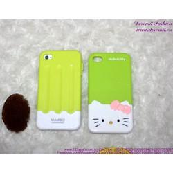 Ốp iphone 4 nhựa cứng 2 mãnh Kitty dễ thương IP82