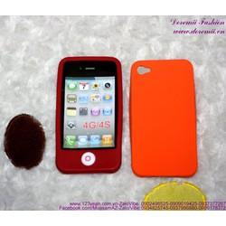 Ốp iphone 4 silicol nút home bảo vệ dế iu IP95