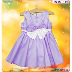 Đầm công chúa hoa tím rơi nhẹ nhàng và đáng yêu cho bé dự tiệc