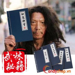Sổ tay bí kíp kungfu nhỏ - combo 2 sổ ghi chú bí kíp kung fu candyshop