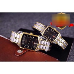 Đồng hồ cặp đôi dây kim loại Longi 950D6