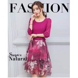 Đầm xòe thời trang thiết kế hiện đại 2017 - DX011468460