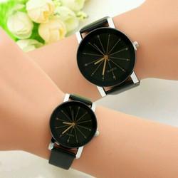Đồng hồ cặp mặt thạch anh dây da cực đẹp - giá đăng bán là giá lẻ 1c
