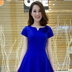 Váy xòe xanh coban