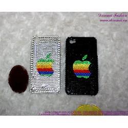 Ốp iphone 4 nhựa đính hột trái táo sang trọng IP83