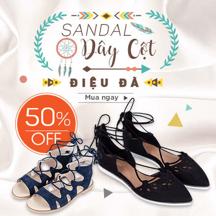 Giày Sandal Dây Cột