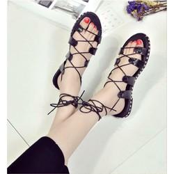 Giày sandal cột dây viền đinh. Hàng thái xinh lung linh
