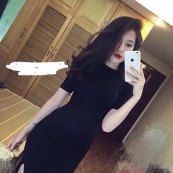 Đầm maxi thun body hotgirl ,xẻ tà