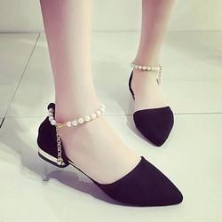 Giày búp bê nữ quai ngọc trai cao cấp - LN1166