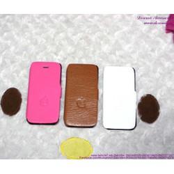Bao da iphone 5 bật ngang trái táo sành điệu OP96