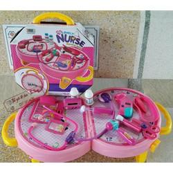 Bộ đồ chơi cặp y tá có âm thanh và đèn sáng