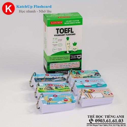Bộ KatchUp Flashcard TOEFL B - Best Quality 03BB