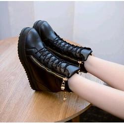 giày  sneaker nữ cổ cao khoá kéo