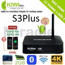 Android Tivi Box KIWI S3 PLUS + Tặng Chuột Bay KIWI999 giá 490K