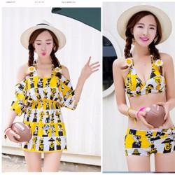 đồ bơi nữ, bộ bikini phong cách Hàn thời trang