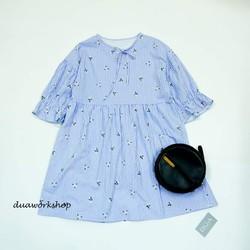 Đầm babydoll hoa nhí