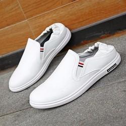 Giày Lười Da Nam Trắng - NA16