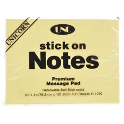 Giấy note vàng UNC 3 x 4 inches - 2 xấp