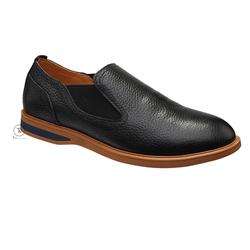 Giày lười Slip on da đen