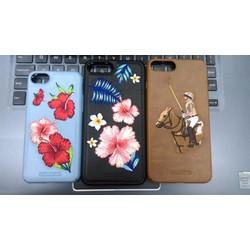 Ốp da thêu họa tiết dành cho iphone 7-7 plus