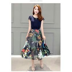 Hàng nhập cao cấp - Đầm Xoè Váy Hoa Xinh Xắn