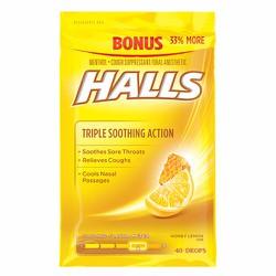 Kẹo ngậm trị ho và viêm họng Halls - Honey, 40 viên