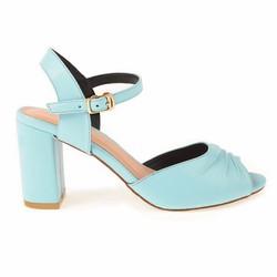 Sandal Gót Vuông 9cm Màu Mint