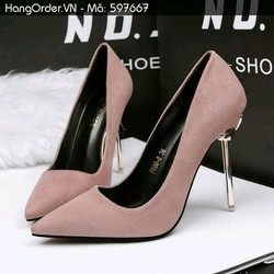 giày cao gót nhung