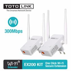 Thiết bị mở rộng sóng WiFi TOTOLINK EX200 KIT_ Trắng