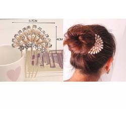 ctxkt36 trâm cài tóc hoa gắn đá kiểu Hàn Quốc