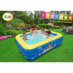 bế bơi 3 tầng  Dài M3 đáy phồng chống trượt an toàn cho bé