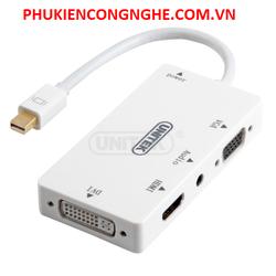 Cáp mini Displayport to HDMI + VGA + DVI + Audio Unitek