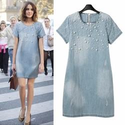 Đầm nữ thời trang, phong cách hiện đại, mẫu Châu Âu mới-D131