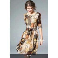 Đầm xoè nhúng eo cực xinh