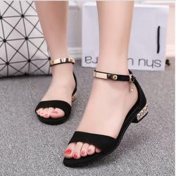 Sandal gót kiểu 2p cao cấp - CG27