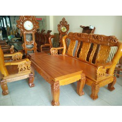 Bộ bàn ghế quốc voi tay 12 gỗ gõ đỏ