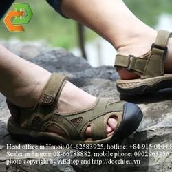 dép sandal dép xăng đan da thật giày bảo vệ ngón chân outdoor