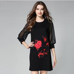 Đầm suông họa tiết hoa thêu cực xinh DS129