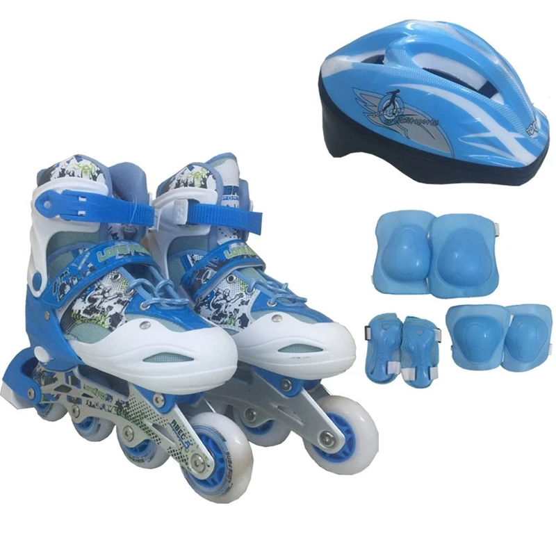 Bộ Giày Patin PTB PT01 Găng Tay Mũ Bảo Hiểm Size S 1