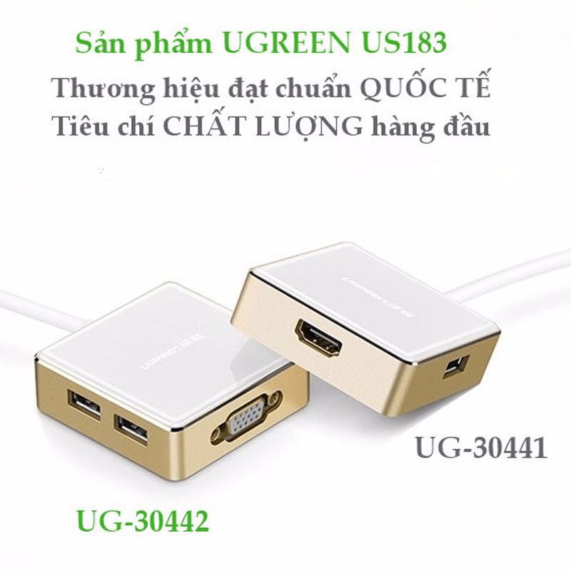 Cáp chuyển đổi USB Type C to VGA + Hub  Ugreen 30442 1