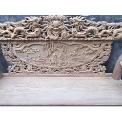Bộ bàn ghế rồng tay 10 gỗ gõ đỏ