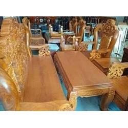 Bộ bàn ghế rồng tay 12 gỗ gõ đỏ