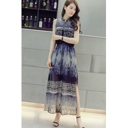 Đầm Maxi Xẻ Tà Họa Tiết CAO CẤP ANN252