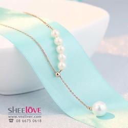 Dây chuyền trân châu nhỏ xinh thời trang hàn quốc dễ thương HKN-100315