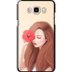 Ốp lưng SAMSUNG. Galaxy J5 2016 Xinh xắn hoa đỏ