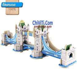 Bộ xếp hình 3D mô hình tháp cầu Lôn Đôn mini
