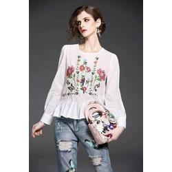 Áo kiểu in hoa lai bèo SIÊU CUTE - 1004102