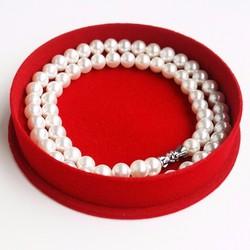 Bộ 10 hộp trang sức nhung tròn màu đỏ LAHO001