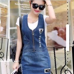 Đầm Yếm Jean Thời Trang